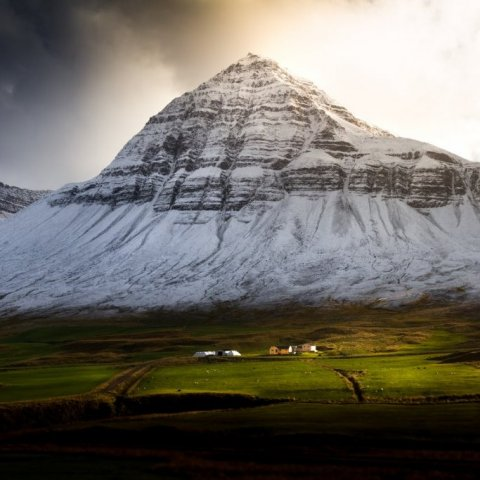 Búrfellshyrna mountain in Svarfaðardalur Troll Peninsula by Jan Dancak